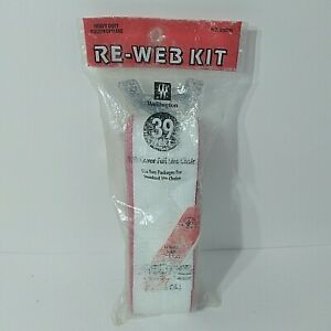 Re-Web Kit - Lawn Chair Webbing - 39 Feet White with Red Stripes - New