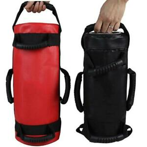 Unfilled Power Bag PU Leather Fitness Body Building Muscle Training Sand Pouch