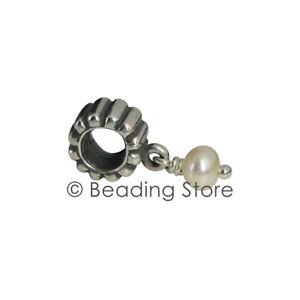 NEW Pandora Silver June Birthstone Pearl Pendant Drop Charm ALE 790166P Genuine