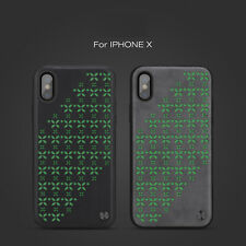 NILLKIN® Luminous Night UV Star Phone Case Cover For iPhone X/10/XS PU Leather