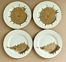 Fitz and Floyd Coquilles Combinees Dessert Salad Plates Set of 4 Seashell Plates