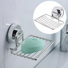 Bathroom Shower Soap box Plate Dish Storage Tray Drain Aluminum Wall-Mounted