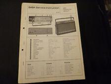 Original Service Manual SABA Transeuropa 2000 Automatic