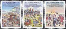 San Marino 1989 French Revolution/Napoleon/Army/Horses/Royalty 3v set (n43572)