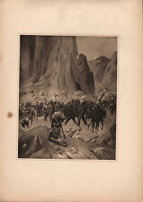 ANTIQUE MILITARY PRINT ~ CAMPAIGN IN ABYSSINIA (1868) ~ SNIDER RIFLE