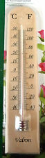 TRADITIONAL WOOD THERMOMETER FOR INDOOR OR OUTDOOR C OR F