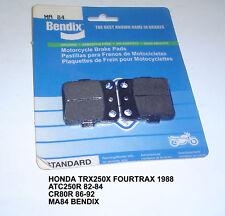 HONDA TRX250 ATC250R CR80R BENDIX DISC BRAKE PADS MA84