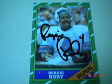 REGGIE ROBY Miami Dolphins Autograph / Signed 1986 Topps Card