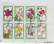 Sellos COLECCIÓN HOJA en el flores BD75