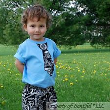 BonEful RTS NEW Boutique Baby 3 Boy Church Christian Name Shorts Tie Top Outfit