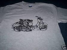 T-shirt avec image de vieille lambretta scooter toutes tailles