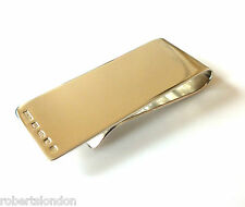 ROBERTS & CO HALLMARKED STERLING SILVER NEW MONEY CLIP MADE IN LONDON ENGLAND