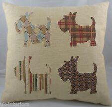 """18"""" Scottie Dog Scottish Terrier Puppy Belgian Tapestry Cushion Evans Lichfield"""
