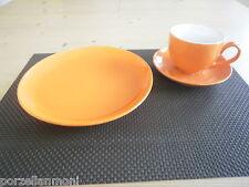 Kaffeegedeck 3 tlg. orange Steingut  Neu