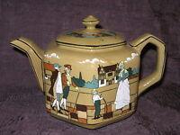 Buffalo Pottery Deldare Ware TEAPOT Village Life in Ye Olden Days