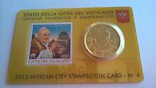 Vaticaan 2013 Stamp & Coincard Nr. 4