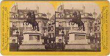 Luogo di Victoires Parigi Francia Foto Stereo Vintage albumina ca 1865