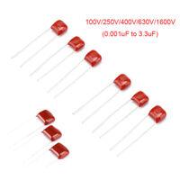 CBB/CL Capacitors 100V 250V 400V 630V 1600V 0.001UF 0.047UF - 3.3UF Pitch 5~27mm