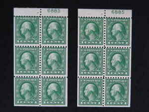United States Booklet Panes Sc.# 424d w/Plate #6885   MNH   s791