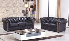 Chesterfield Mikrofasersofa Couch Chester-3+2-MS sofort
