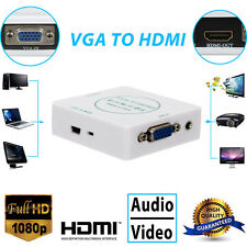 HD 1080P VGA To HDMI HDTV Video Audio Converter Box Adapter For PC Laptop DVD