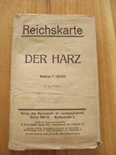 alte Landkarte Reichskarte Der Harz von 1923 Nordhausen Quedlinburg Wernigerode