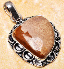 925 Silver Overlay Pendant Jewellery - Picture Jasper - 30mm Height - PEN316