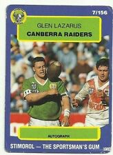 Scanlens Canberra Raiders NRL & Rugby League Trading Cards