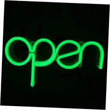 Open Neon Sign for Window Displaying Light 15.5x8.4 inch,Long Cord 11.5 Ft Led G