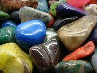 Size #6 - XLarge Tumbled Polished Gemstones - 1000 Carats Lots + Free Gift