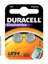 2 PILE BATTERIA DURACELL LR54 ELECTRONICS 1,5V ALCALINA (189-KA54-LR1130) PZ 2