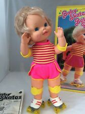 Vintage Baby Skates Doll 1982 Mattel, Box, Instructions, Hairnet, Nice condition