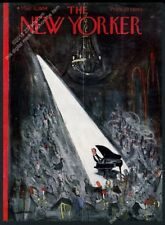 New Yorker magazine framing cover March 6 1954 Ludwig Bemelmans pianist
