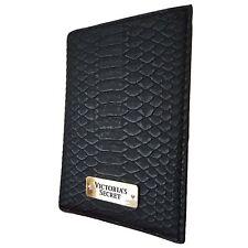 Victorias Secret Black Python Print Passport Cover & ID Card Holder