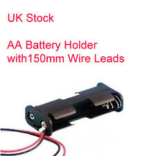 Double AA Batterie Support - 150 mm Wire Leads - (2x AA Holder)