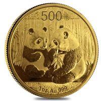 China 1 oz Gold Panda Proof/Unc (Random Year, Abrasions)