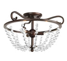 Progress Lighting Bliss 17-in Antique Bronze Semi-flush Mount Ceiling Light