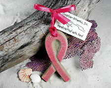 PINK RIBBON (Breast Cancer Awareness) Made with Sand Beach Ornament