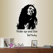 Vinyl Decal Bob Marley Quote Wake Up And Live Reggae Music Wall Mural Decor 2021