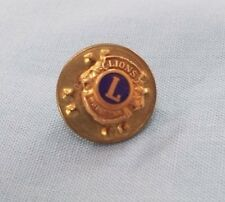 Vintage Lions Club Lapel Pin 1/20th 10K GF