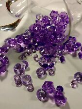100 Pcs 4 shades 4 size Violet Diamond acrylic 6, 8, 10 mm & ice crystals