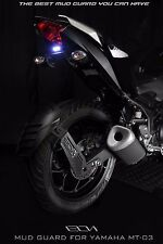 Yamaha YZF-R3/MT03 Rear Splash Guard/Mud Guard Pure Carbon Twin Bracket by Leon
