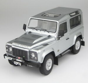 Kyosho 1/18 Scale Land Rover Defender 90 Silver Diecast Model Car Toy Gift
