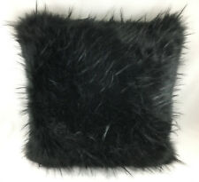 Black Shaggy Faux Fur Evans Lichfield Cushion Cover