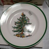 Spode Christmas Tree Double Tier Serving Party Tray in Box England