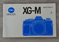 Minolta XG-M - notice d'utilisation - mode d'emploi