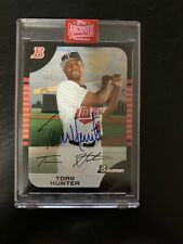 Torii Hunter 2019 Topps Archives Signature Series 1/1 AUTO TWINS