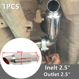 "1PC 2.5"" Inelt /Outlet 89MM Car Chrome Stainless Steel Exhaust Muffler Resonator"