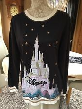 PRIMARK DISNEY DISNEYLAND WORLD CASTLE PRINCESS SWEATSHIRT TOP L 14 16 18 20 NEW