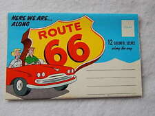 Vintage Accordion Postcard-Here We Are Along Route 66